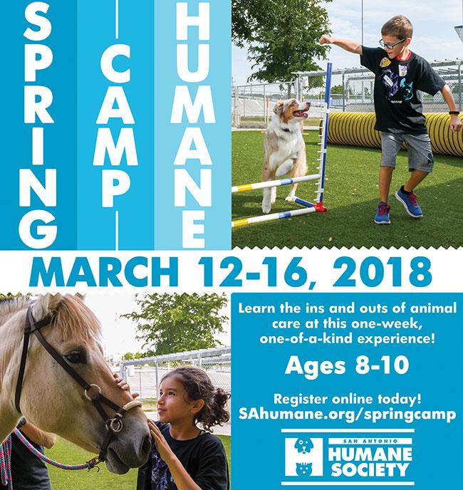 2018 Spring Camp Humane Flyer SQ Web