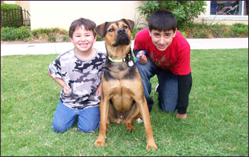 Buster Boy with his new family