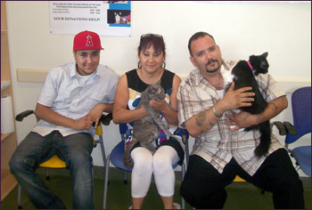 Ribbon and Nala with their new family