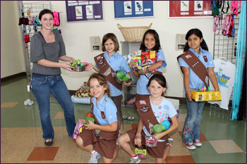 Girl Scout Troup 3090 donation