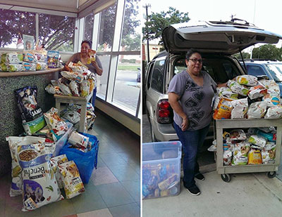 Donations from Teresa and Marcela
